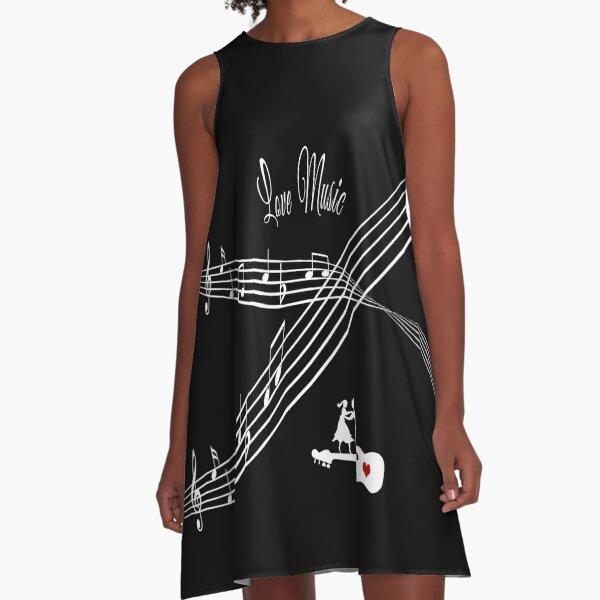 Love Music A-Line Dress