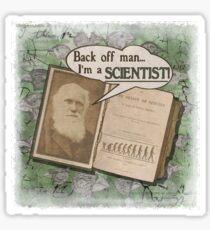 Popular Science: Charles Darwin 2 (distressed) Sticker