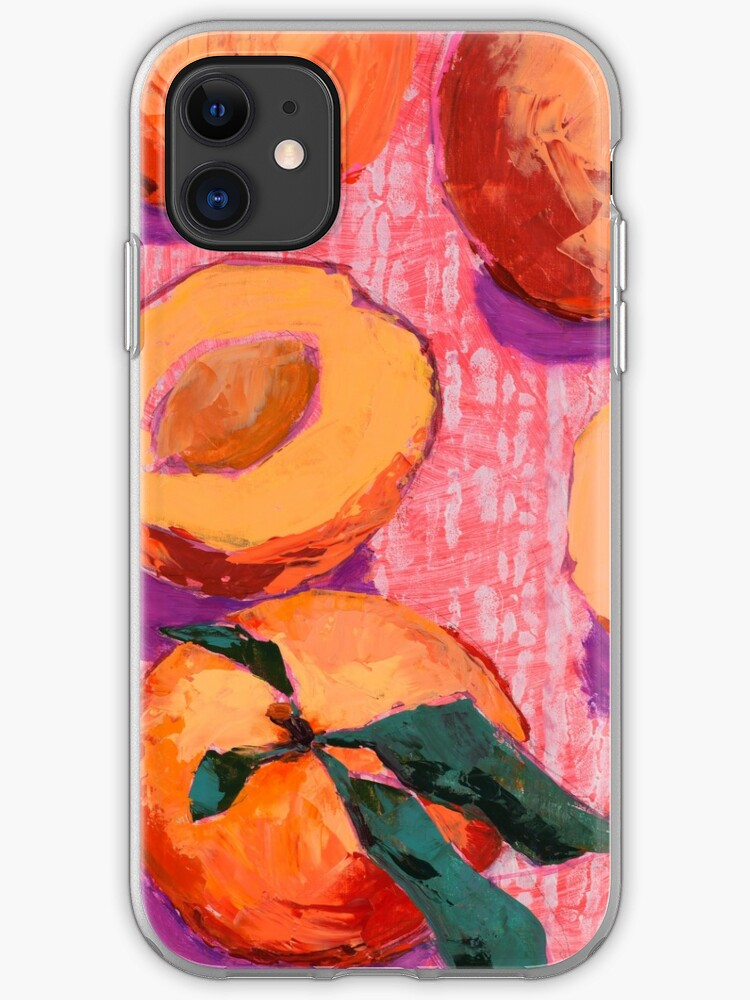 peaches on pink background iphone case cover by amopainting redbubble peaches on pink background iphone case cover by amopainting redbubble