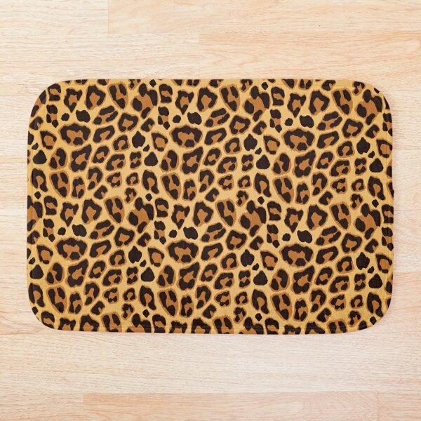 Leopard Pattern Big Cat Animal Print  Bath Mat