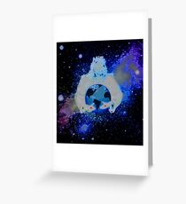 For The Love Of   God & A Neon Vision Of The Round Globe We Call Earth Greeting Card