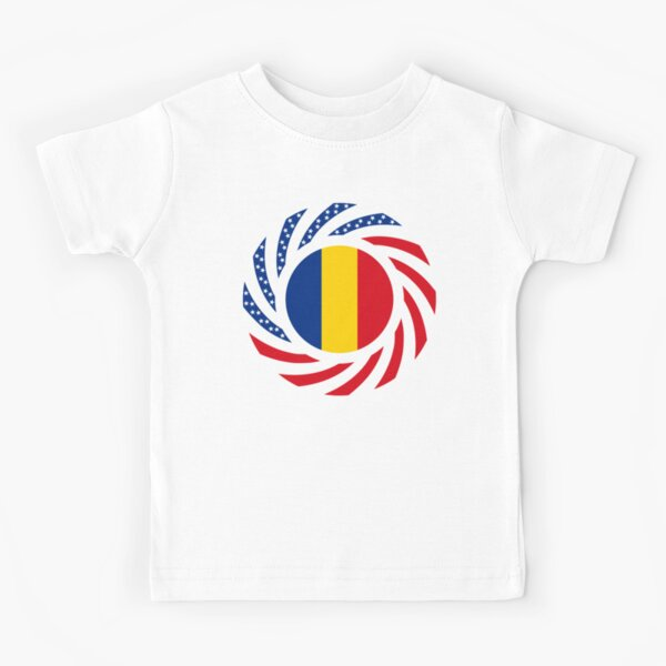 Romanian American Multinational Patriot Flag Series Kids T-Shirt