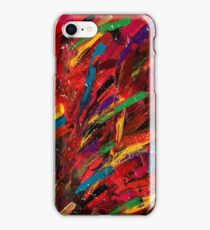 Abstract multi-colored brush strokes iPhone Case/Skin