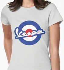 Vespa script mod symbol Womens Fitted T-Shirt