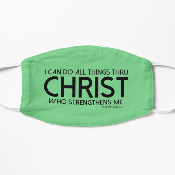 Bible T-Shirt - Philippians 4:13 Flat Mask
