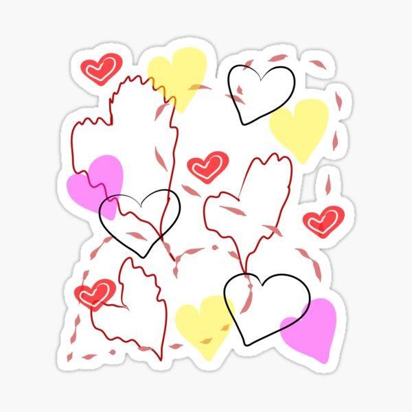 thin light air hearts fly, love, romance Sticker