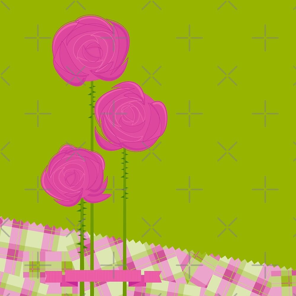 Pink Roses by rusanovska