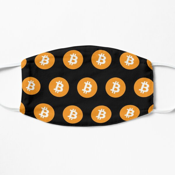 Bitcoin BTC Crypto Cryptocurrency Pattern Mask