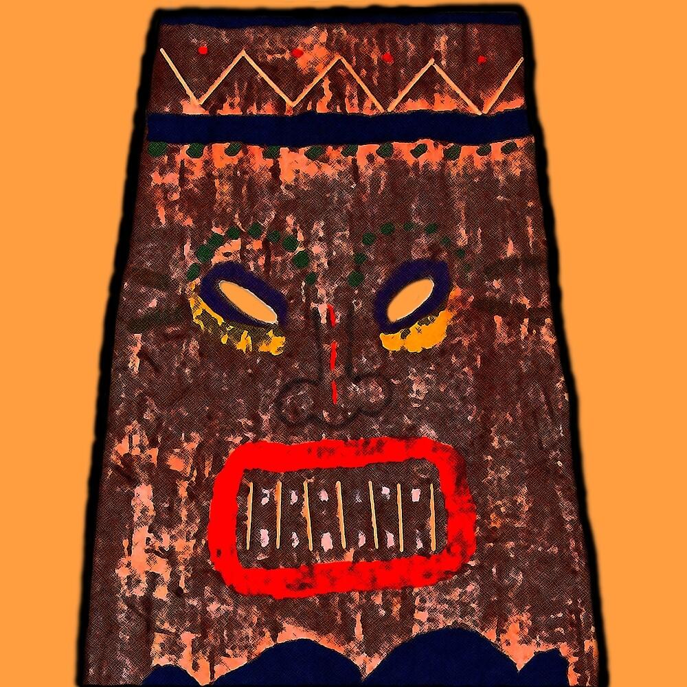 The Happy Tiki Head by mokacat
