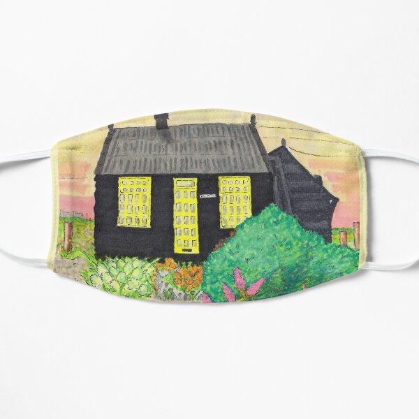 Derek Jarmans Prospect Cottage at Sunset - Dungeness, Kent. Mask