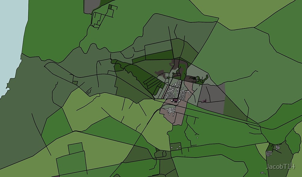 North Korean Fields | OSM Visualization by JacobT14