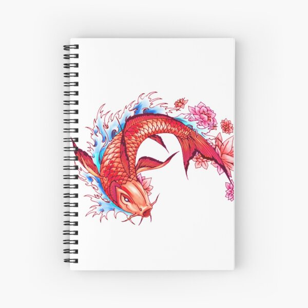 Japon carpe koi poisson Cahier à spirale