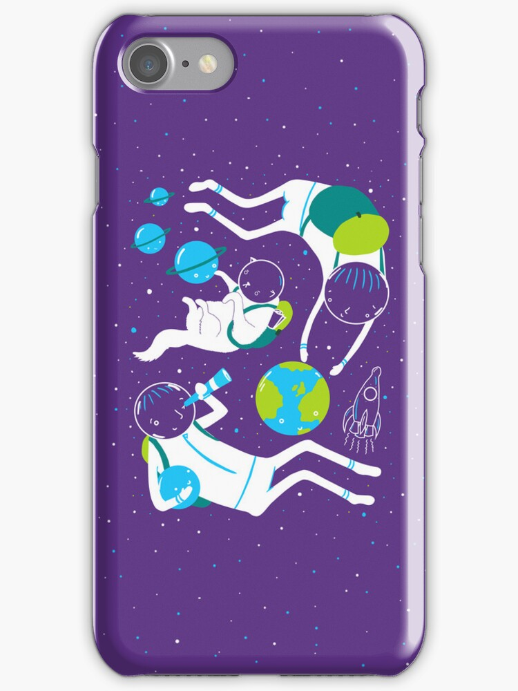 A Day Out In Space - Purple by Sarah Crosby