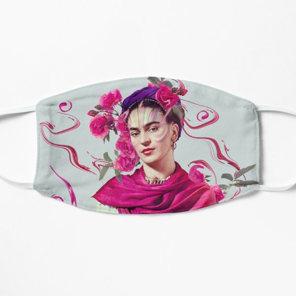 FRIDA KAHLO Mexican Feminist portrait painting Flat Mask