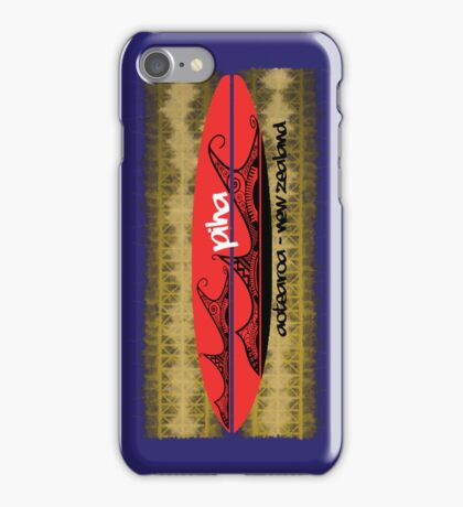 surf piha tribal tattoo wave board iPhone Case/Skin