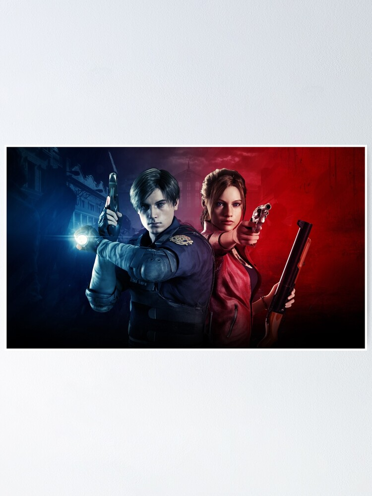 Resident Evil 2 Remake Leon And Claire Poster By Alextm Redbubble