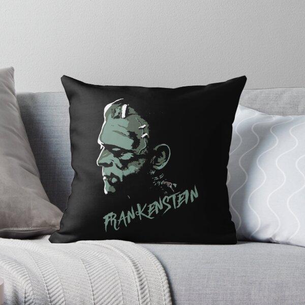 Frankenstein Head v2 Throw Pillow