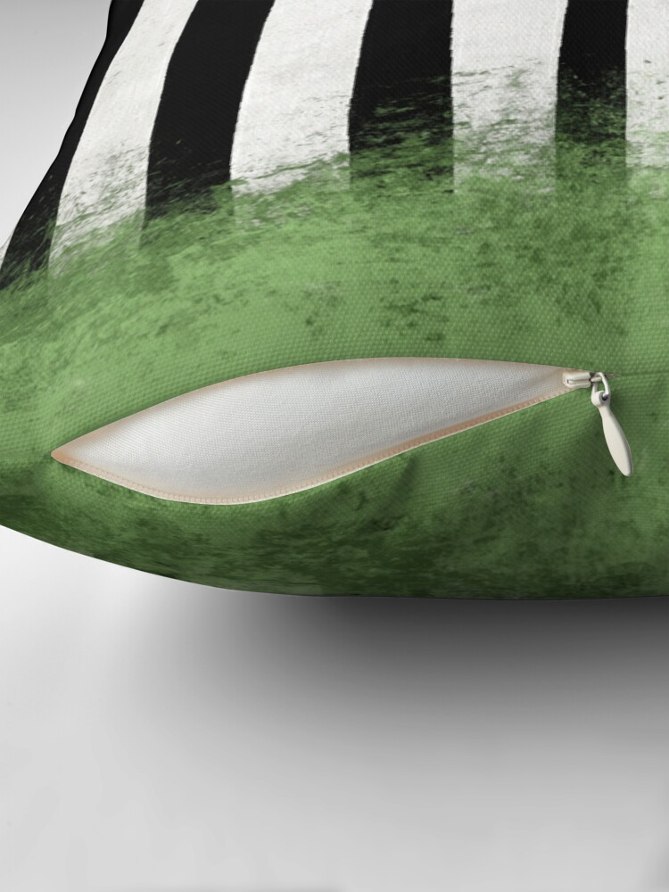 Alternate view of Beetlejuice Stripes Throw Pillow