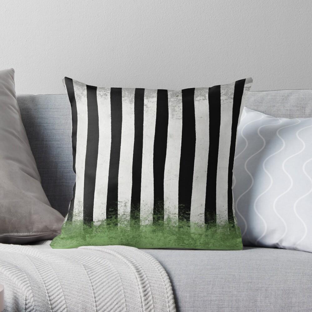 Beetlejuice Stripes Throw Pillow