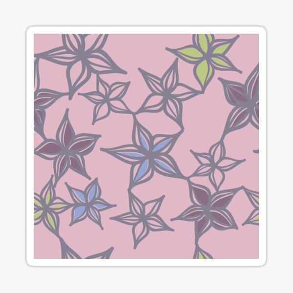 Floral Pattern on Pink  Sticker