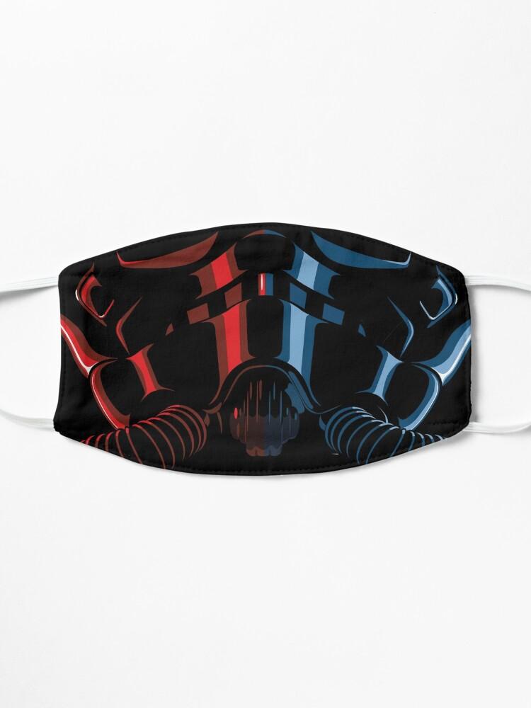 Alternate view of Sci-fi fighter pilot helmet Mask