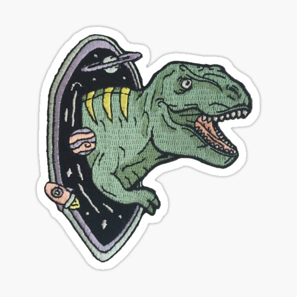 T-Rex Dinosaur Space Patch Sticker