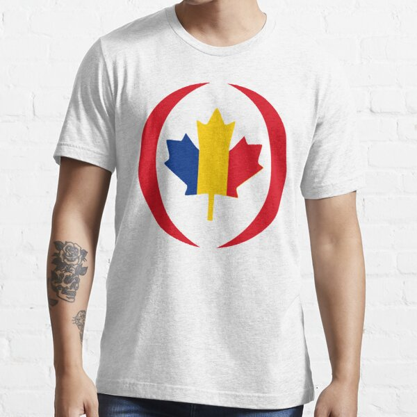Romanian Canadian Multinational Patriot Flag Series Essential T-Shirt