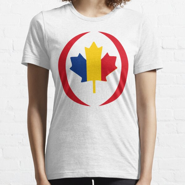 Romanian Canadian Multinational Patriot Flag Series Essential T-Shirt