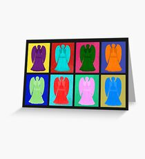 Weeping angels Pop Art Colour Greeting Card