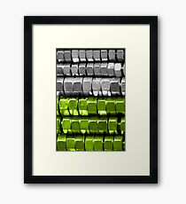 Absolutely Nuts Lime Green Wall Art I Framed Print