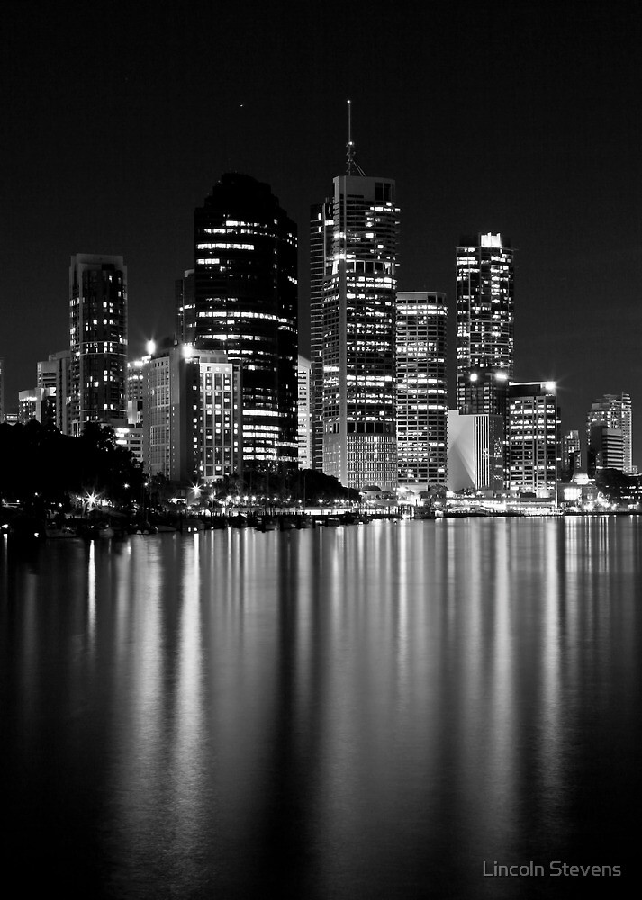 city lights black and white - photo #16