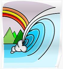 Tahiti Wave Poster