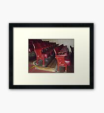 Old Theatre Seating. Framed Print