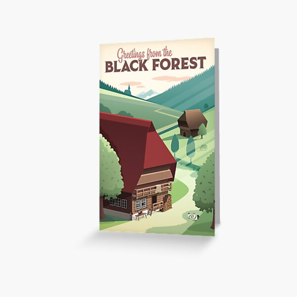 Black Forest poster Greeting Card