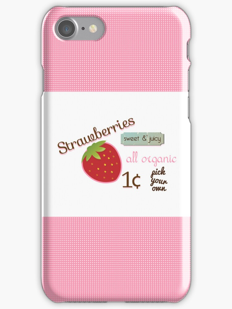 Vintage Strawberry iPhone Case by sweettoothliz