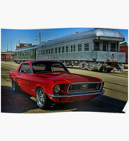 """1968 Mustang """"At the Station"""" Poster"""