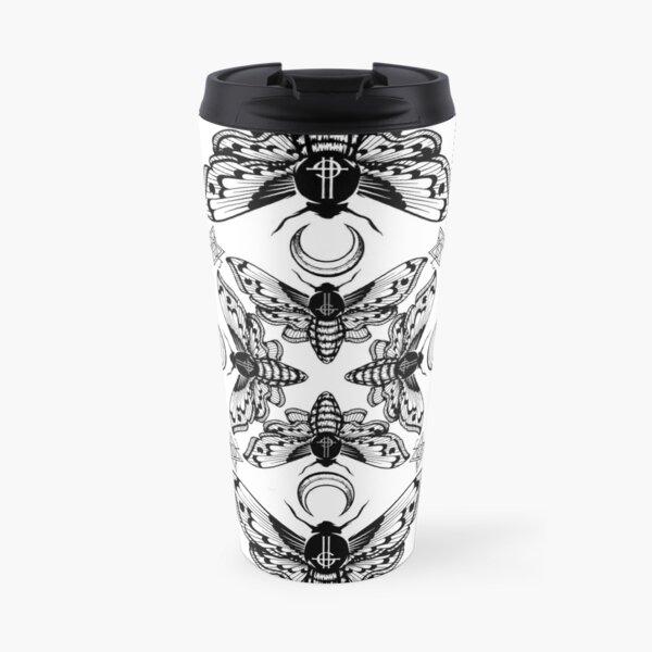 Ghost Cirice Moth Kaleidoscope Travel Mug