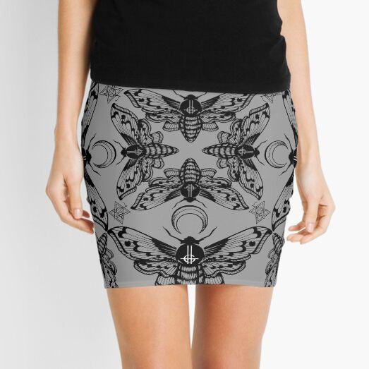 Ghost Cirice Moth Kaleidoscope Mini Skirt
