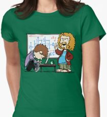 Pied Piper's Peanuts Womens Fitted T-Shirt
