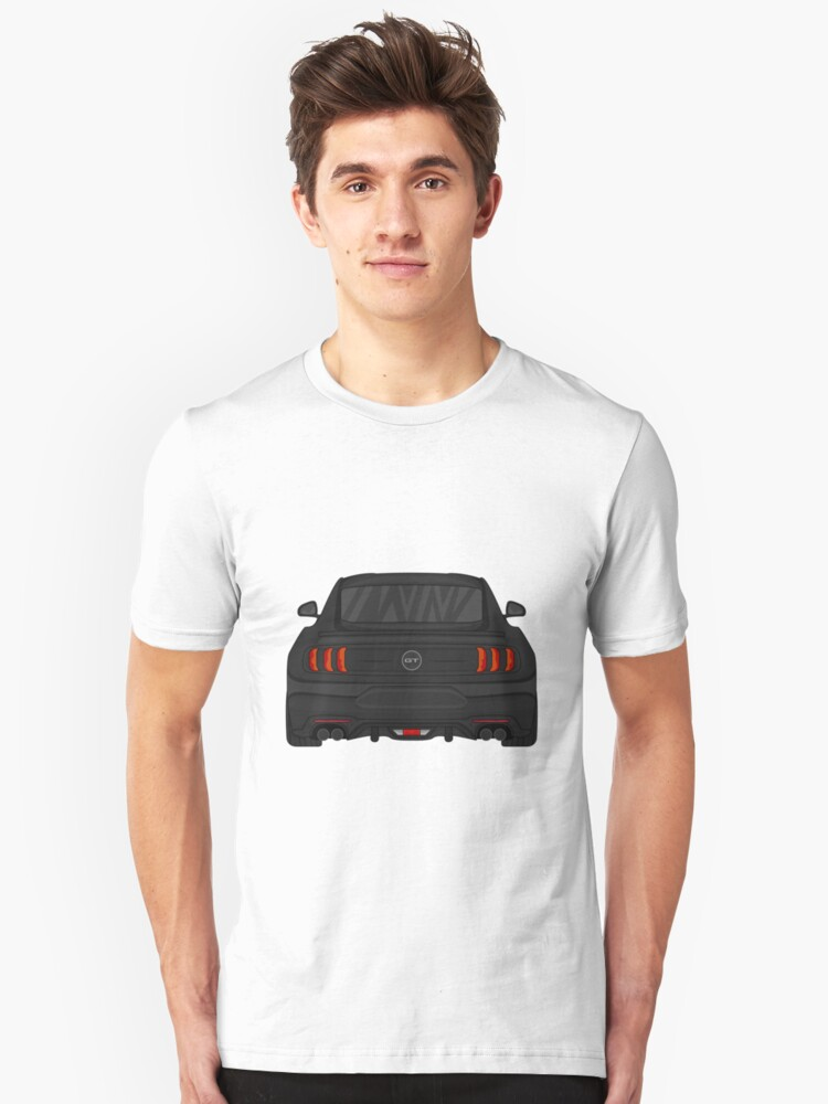 Ford Mustang GT on a Black T Shirt