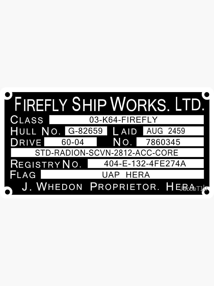 Firefly Ship Works Ltd. Sticker by JacobT14