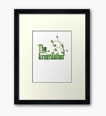 The Greenfather: Environmental Parody Framed Print