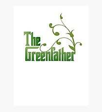 The Greenfather: Environmental Parody Photographic Print