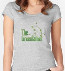 The Greenfather: Environmental Parody Women's Fitted Scoop T-Shirt