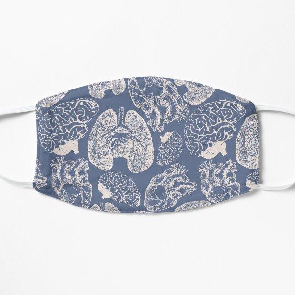 Anatomical Organs - White on Blue Mask