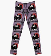 """Un Fou, Passionné, l'Amour Vrai!""- One Crazy, Passionate, True Love! (purple) Leggings"