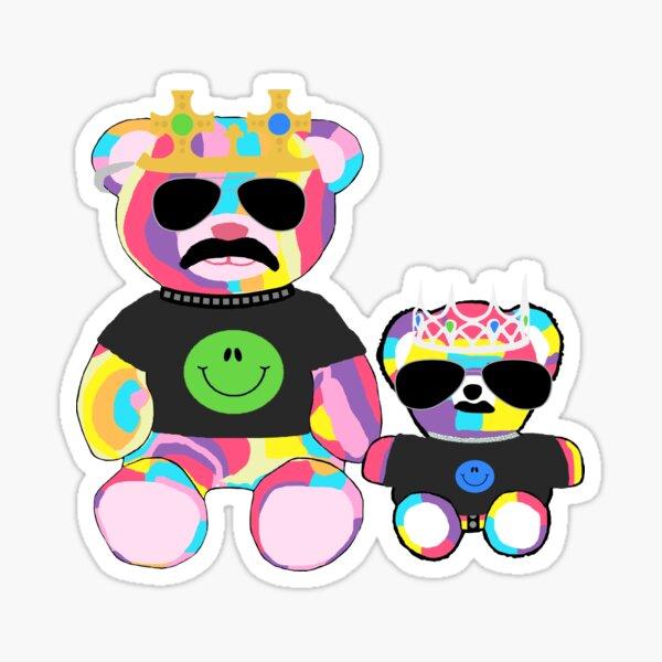 Rainbow Bear with shirts Sticker