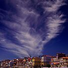Porto and the sky by Shienna
