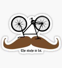 Hipster Bike Mustache  Sticker