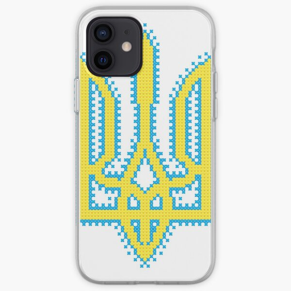 Ukrainian Tryzub with embroidery effect iPhone Soft Case